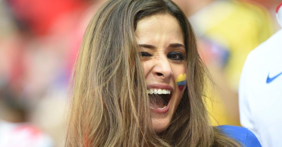 A musa colombiana que está em todos os jogos dos Estados Unidos volta a dar o ar da sua graça