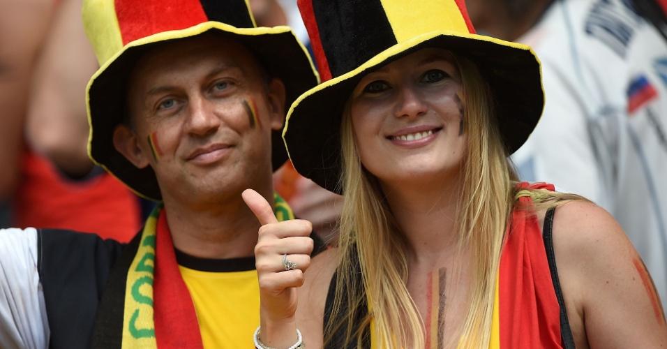Casal belga mostra confiança na vitória em cima da Rússia no Maracanã