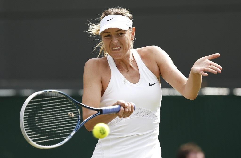 A tenista russa Maria Sharapova estreou com vitória em Wimbledon