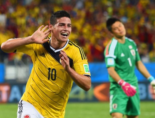 James Rodríguez, grande destaque da seleção da Colômbia na Copa, está nos planos do Real Madrid
