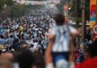 Números comprovam invasão latina na Copa com presença massiva de argentinos (Foto: Xinhua/Jhon Paz)