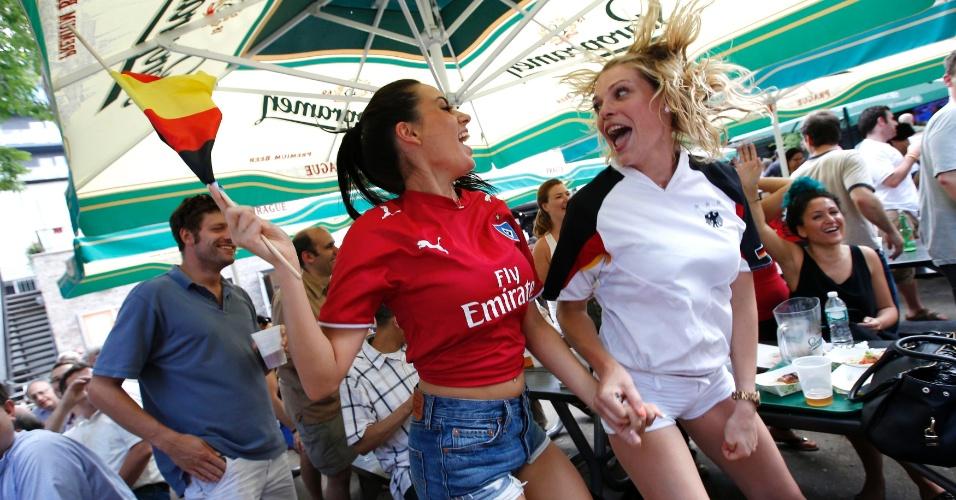 Alemãs comemoram vitória por 1 a 0 nos Estados Unidos em Nova York