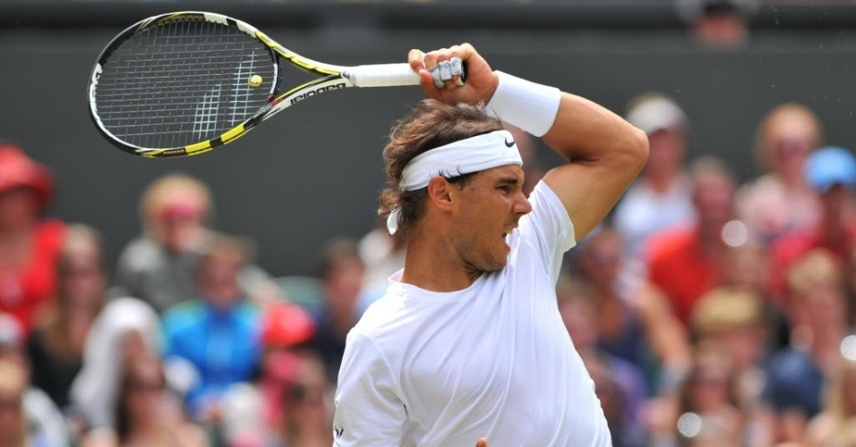 O espanhol Rafael Nadal enfrenta o tcheco Lukas Rosol nesta quinta-feira em Wimbledon