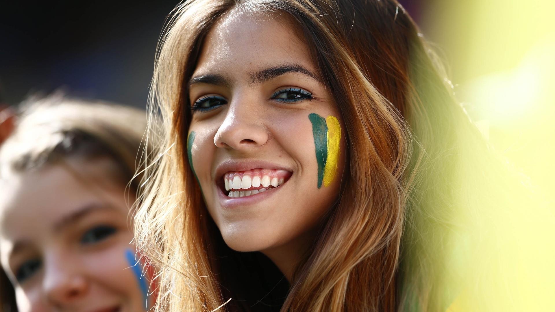 Torcedora brasileira também vai ao estádio Nacional para assistir ao jogo entre França e Nigéria