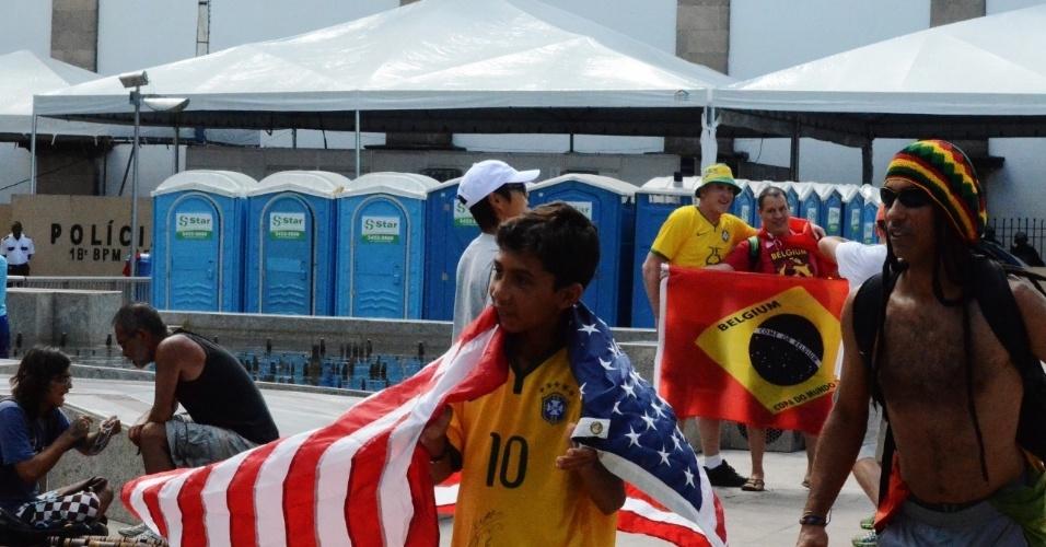 01.jul.2014 - Movimentação na região do Pelourinho, em Salvador, antes de partida entre Bélgica x EUA