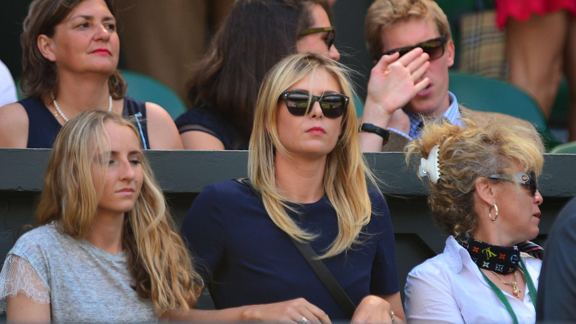 Russa Maria Sharapova observa o namorado Grigor Dimitrov; búlgaro enfrenta Novak Djokovic pela semifinal de Wimbledon