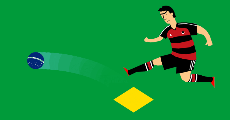 Alemães chutam o Brasil para longe da Copa