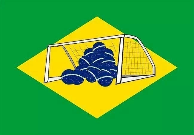 Bandeira do Brasil ganha nova versão depois da goleada sofrida contra a Alemanha
