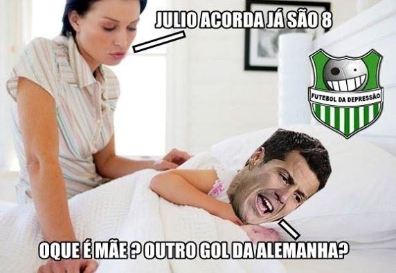Goleiro brasileiro ficou um pouco confuso após tantos gols