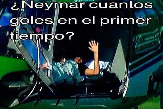"""""""Neymar, quantos gols o Brasil vai levar no primeiro tempo?"""""""