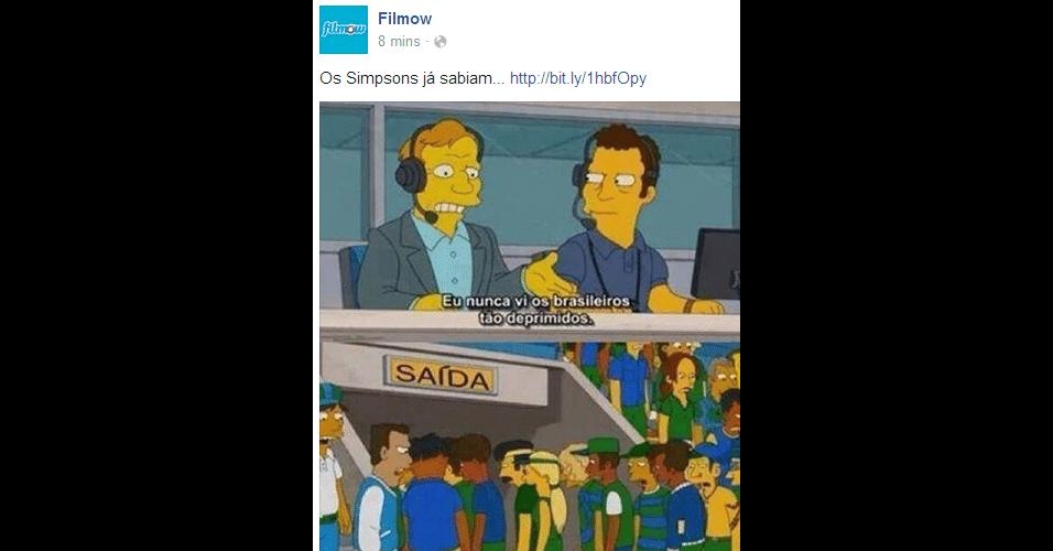 Nos Simpsons, a derrota já era certa