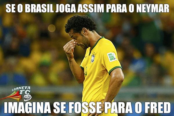 Se o Brasil joga assim para o Neymar, imagina para o Fred