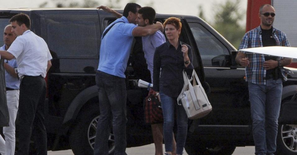 Novak Djokovic chega à cidade de Tivat, em Montenegro, para casamento com Jelena Ristic nesta quarta-feira