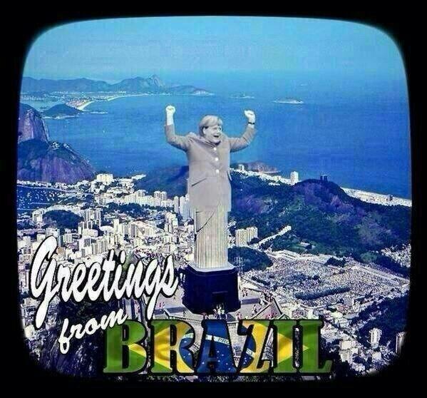 O domínio alemão foi tão grande que até o Cristo deu lugar à Angela Merkel no Rio