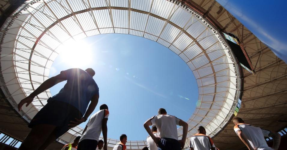 11.jul.2014 - O estádio Mané Garrincha receberá sua última partida nesta Copa. Será o encontro entre Brasil e Holanda, pela disputa de terceiro lugar