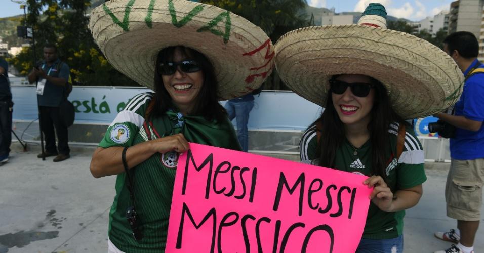 A seleção mexicana não disputa a final da Copa neste domingo, mas a torcida estará no Maracanã e apoiando Messi
