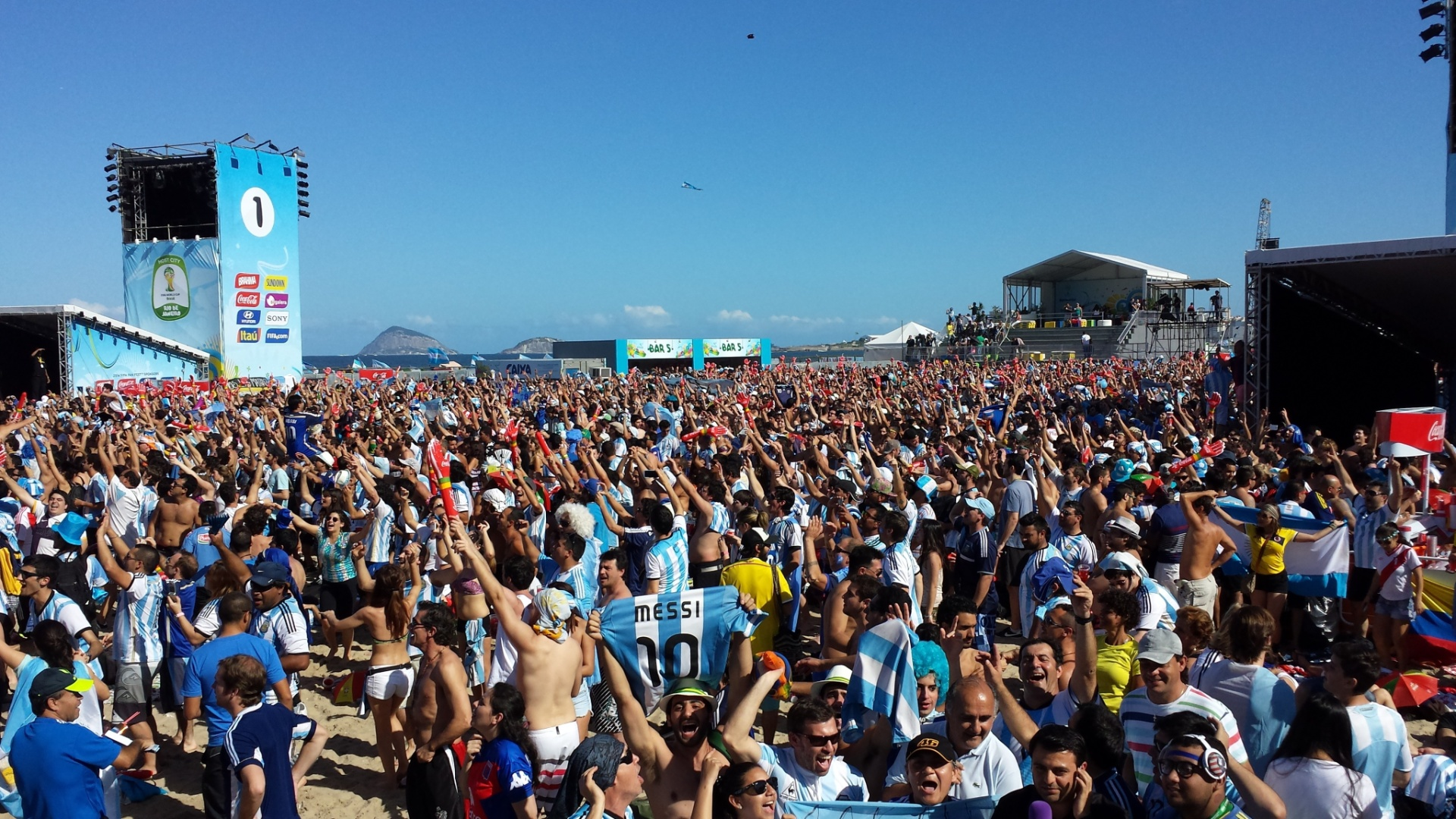 Fan Fest fica lotada duas horas antes da final da Copa do Mundo