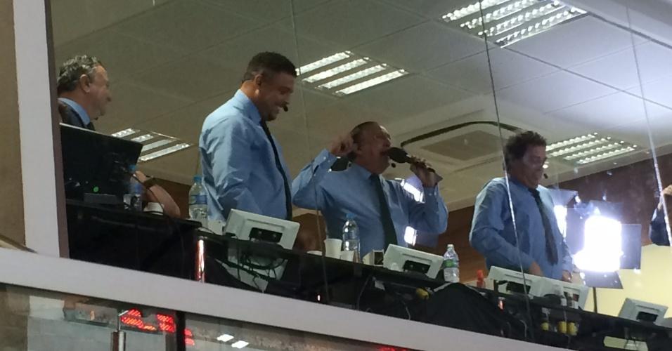 Galvão Bueno e Ronaldo torcem para a Alemanha na final da Copa do Mundo