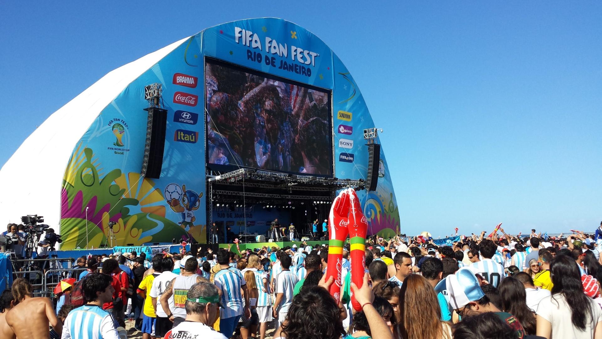 Telão em Fan Fest de Copacabana já está pronto para transmitir a final da Copa do Mundo