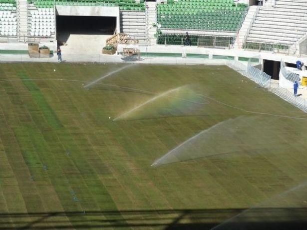 Estádio do Palmeiras já começa a receber seus últimos retoques