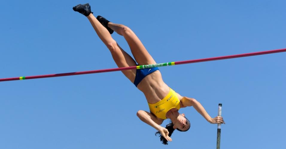 18.jul.2014 - Fabiana Murer conquistou o ouro na etapa de Mônaco e se isolou na liderança da Diamond League