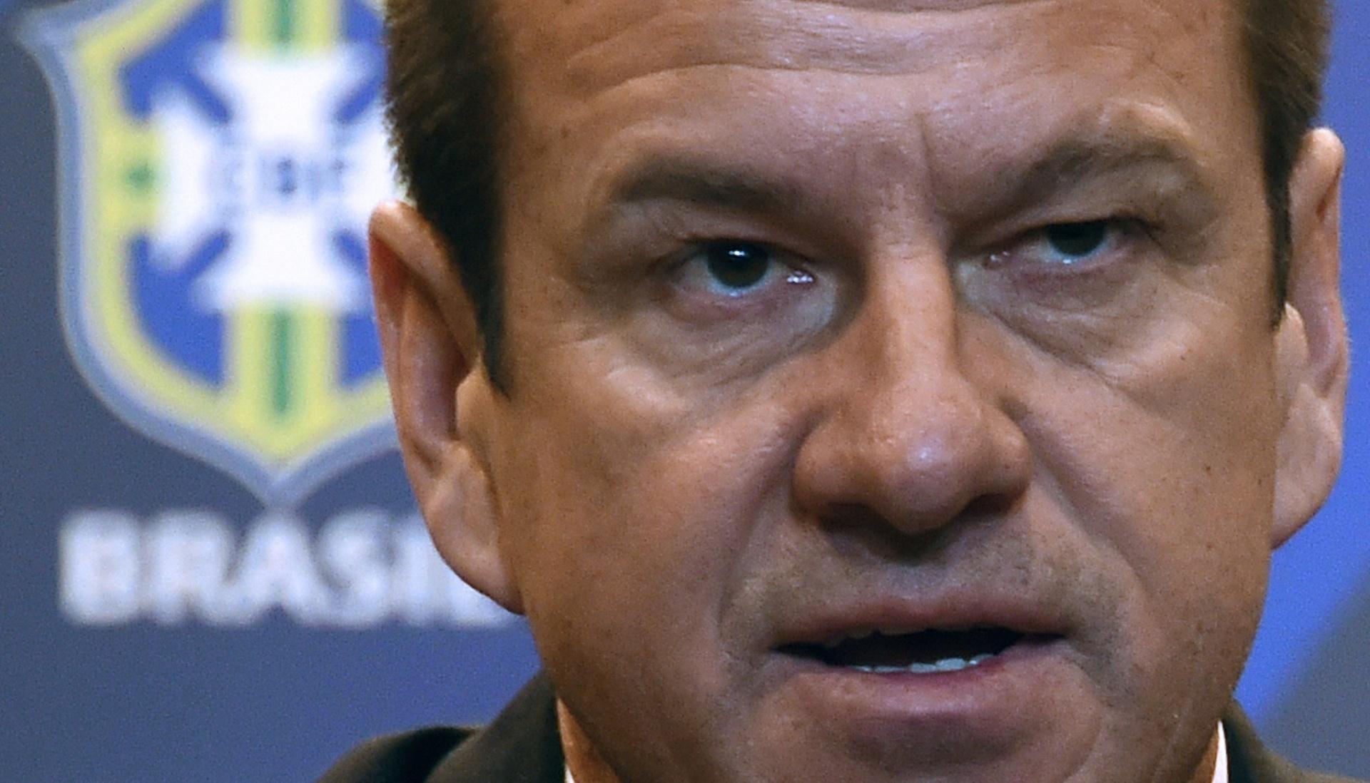 Dunga concede coletiva de imprensa na sede da CBF na oficialização de seu retorno à seleção brasileira