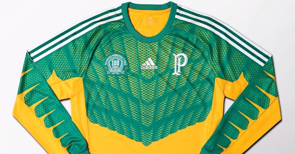 e2b01295f8 Nova camisa de goleiro do Palmeiras em homenagem ao centen  225 rio