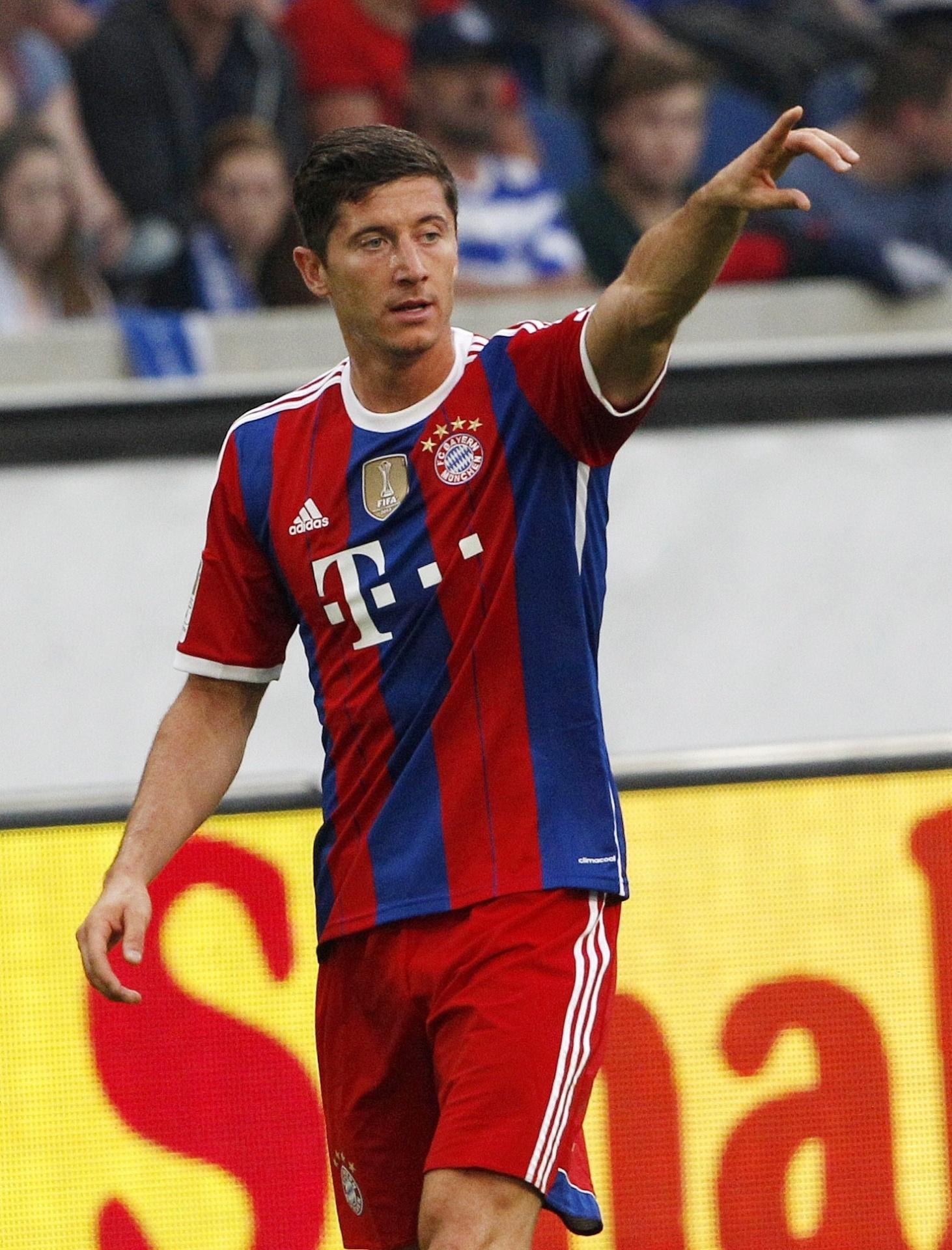 Robert Lewandowski em ação pelo Bayern de Munique