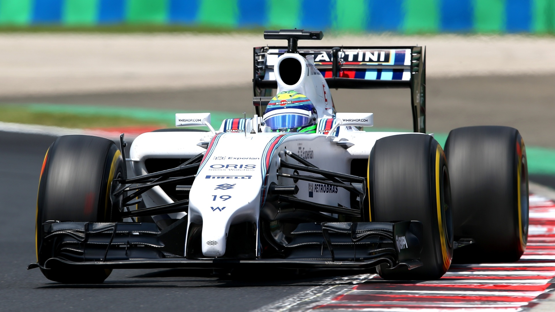 26.jul.2014 - Felipe Massa acelera sua Williams pelo circuito de Hungaroring durante o treino de classificação para o GP da Hungria