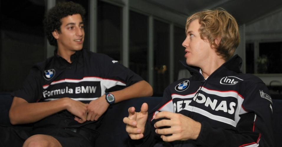 Daniel Ricciardo e Sebastian Vettel, em 2006