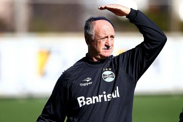 05 ago 2014 - Felipão comanda treinamento do Grêmio no estádio Olímpico