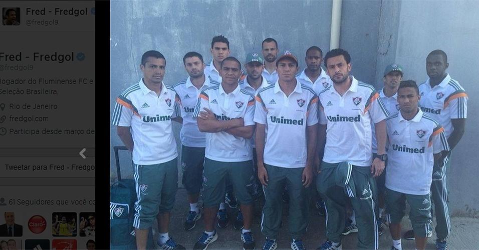 21 ago. 2014 - Fred posta reclamação nas redes sociais após protesto da torcida do Fluminense no aeroporto Santos Dumont