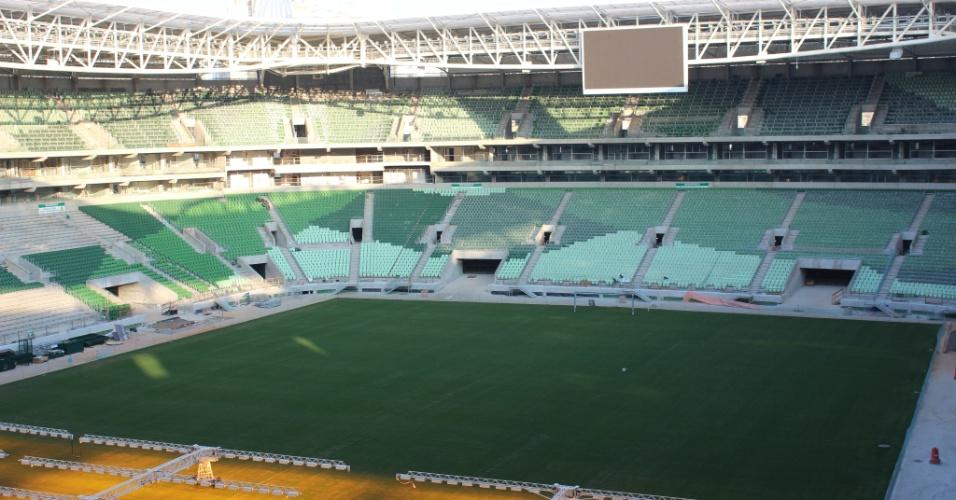 Estádio do Palmeiras já tem 75% das cadeiras colocadas