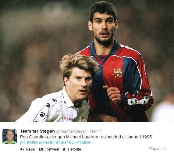 Michael Laudrup contra Pep Guardiola no clássico entre Real Madrid e Barcelona