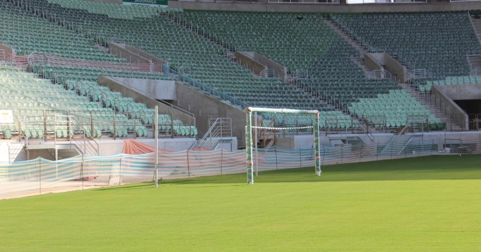 Traves já estão instaladas no novo estádio do Palmeiras