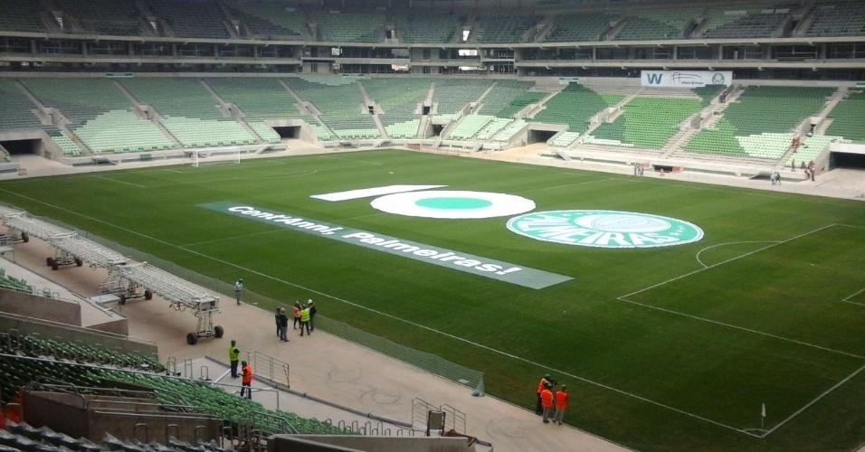 26-08-2014 - Cent'Anni, Palmeiras! A homenagem prestada pela WTorre na Arena Palestra