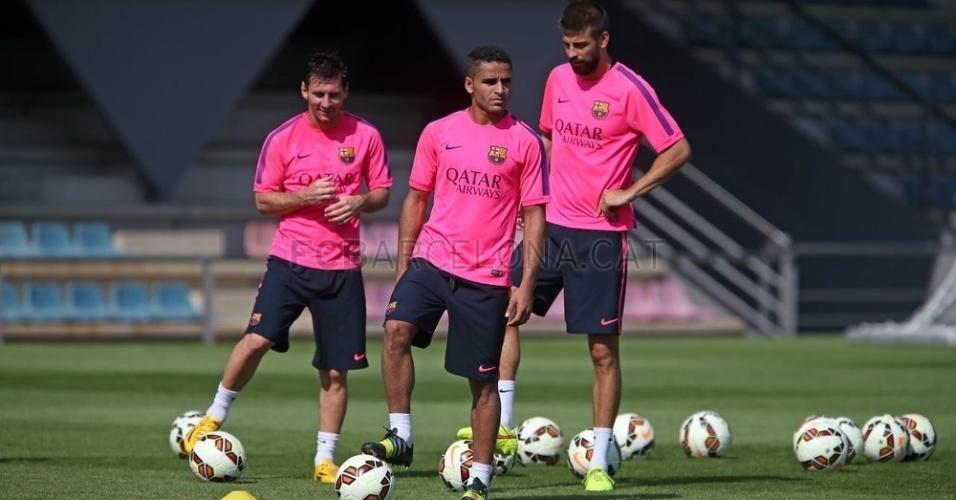 Douglas, Messi e Piqué