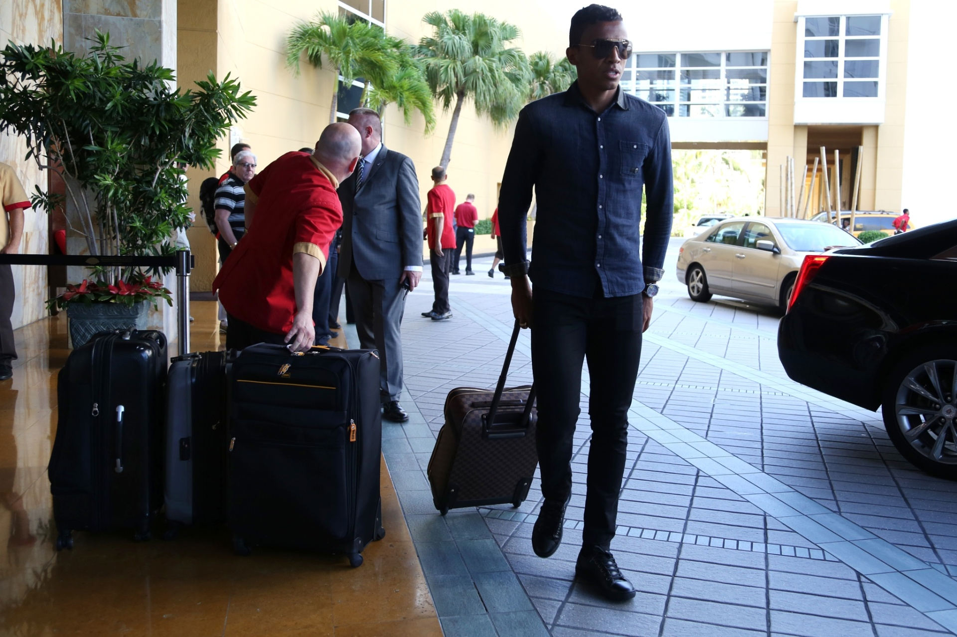01. set. 2014 - Luis Gustavo é mais um atleta a integrar a seleção brasileira nesta segunda-feira (1), em Miami