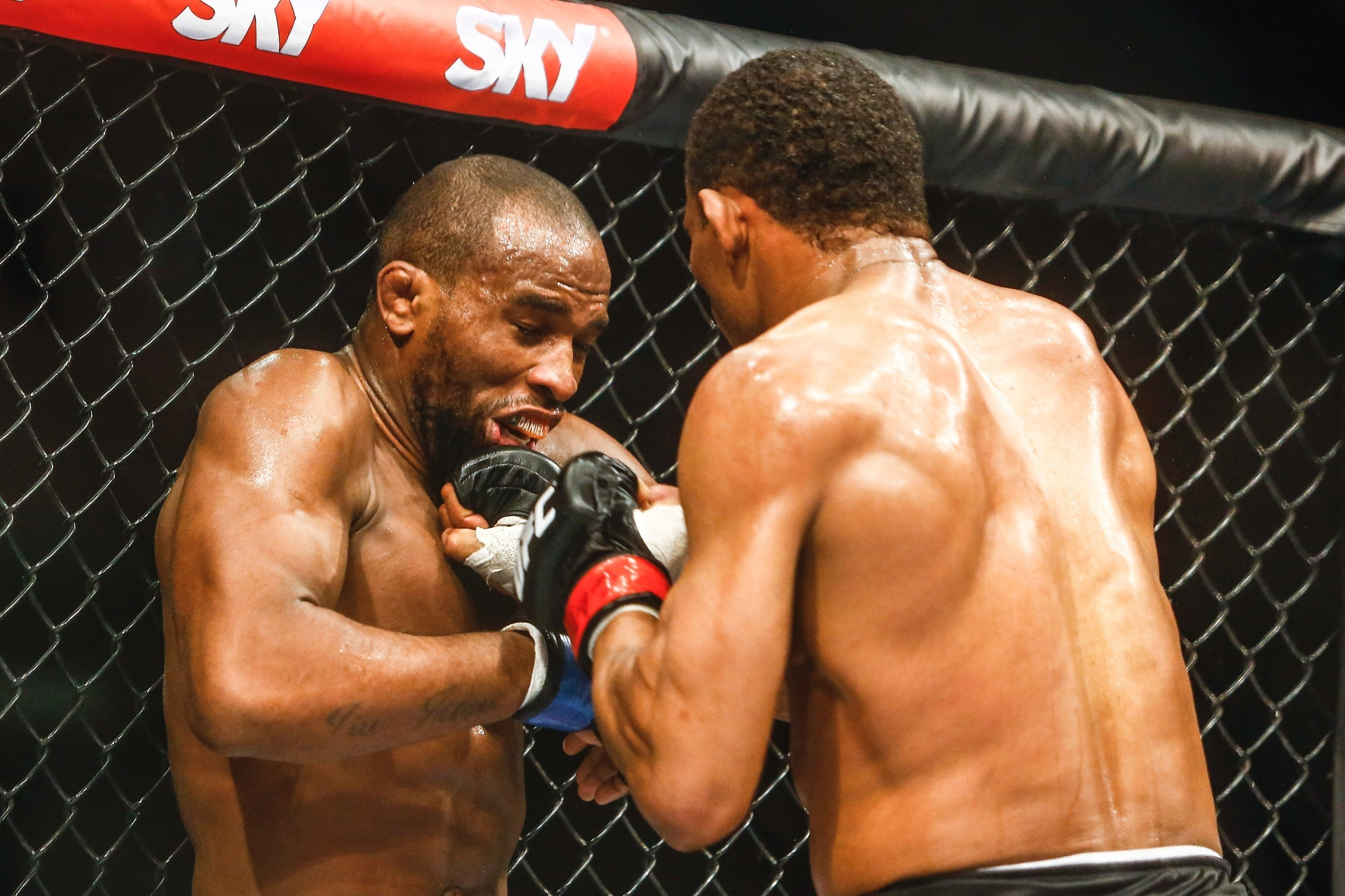 Francisco Massaranduba (esquerda) venceu Leandro Buscapé no UFC Brasília