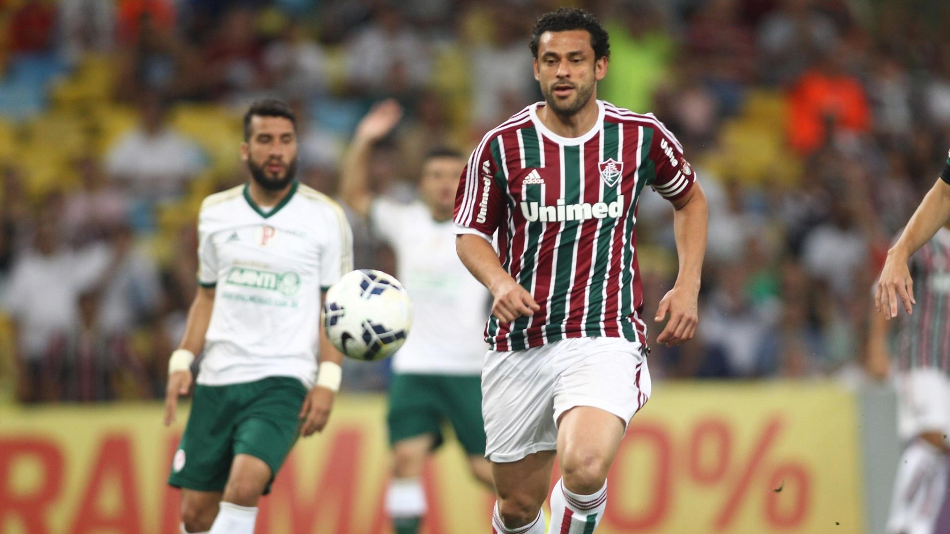 Fred abriu o placar para o Fluminense contra o Palmeiras