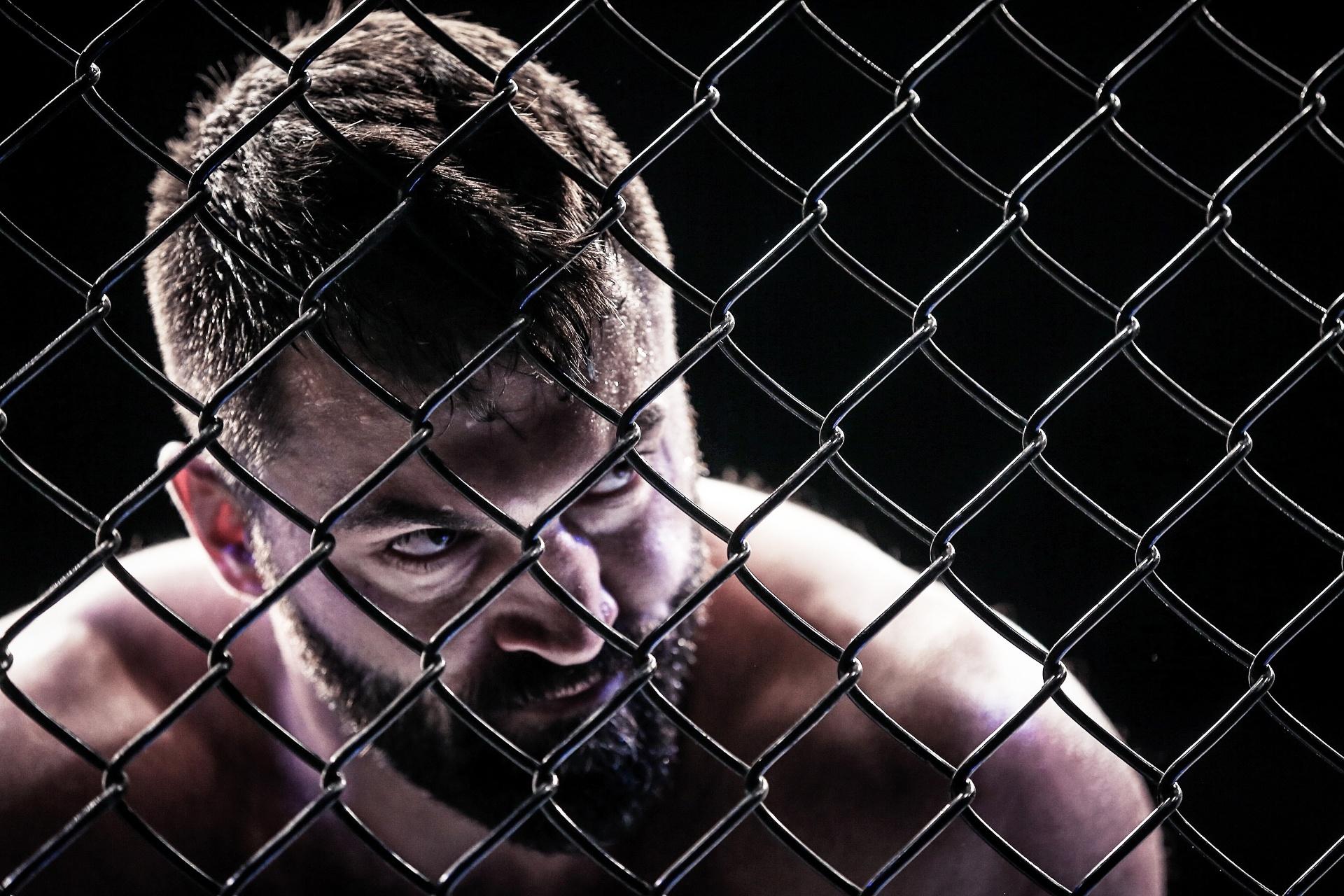 Andrei Arlovski durante sua vitória no UFC Brasília