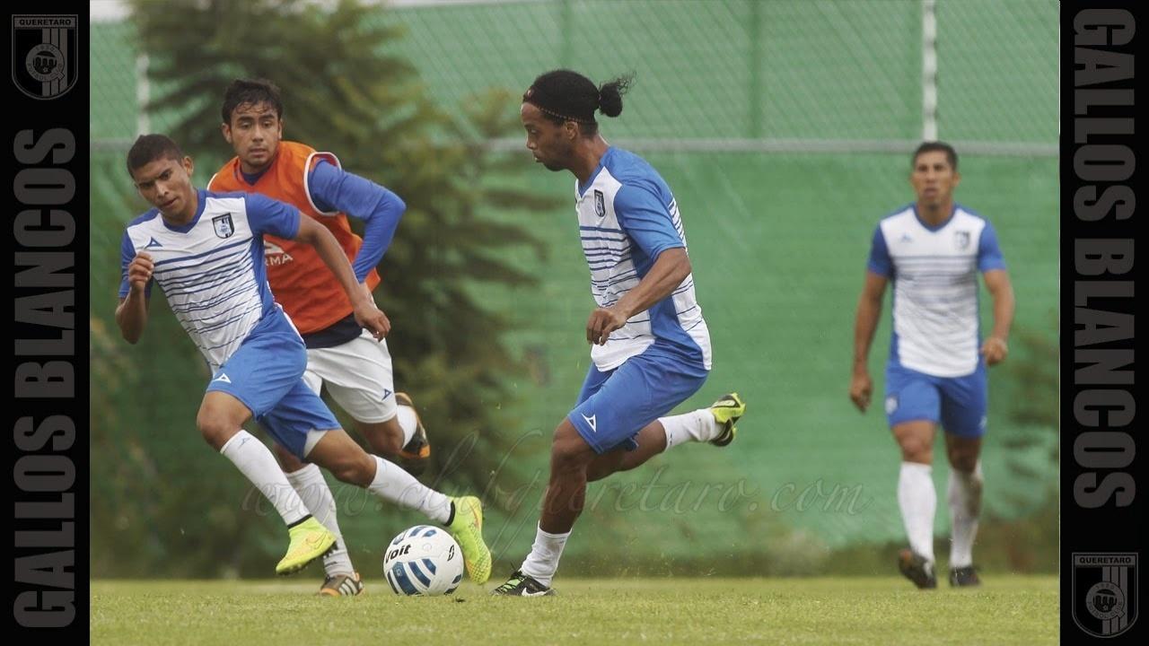 15. set. 2014 - Ronaldinho Gaúcho treina com Querétaro pela primeira vez