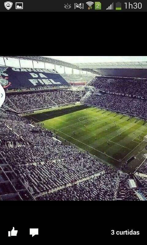 Torcedor mandou uma bela imagem do Itaquerão lotado de torcedores para o clássico Corinthians x São Paulo