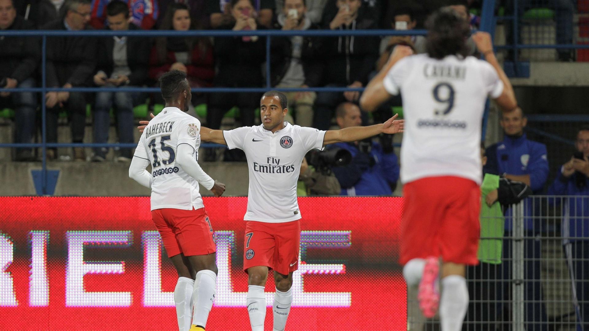 Lucas comora seu gol pelo PSG