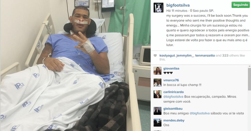 Pezão, do UFC, passa com sucesso por retirada de mais um tumor na glândula pituitária.