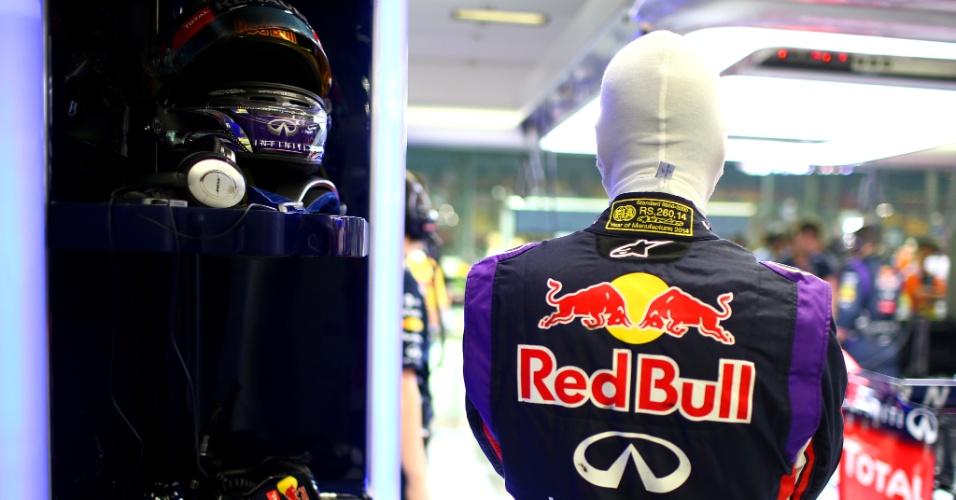 Sebastian Vettel não faz boa temporada em 2014, Seu melhor resultado foi um 2º lugar em Cingapura