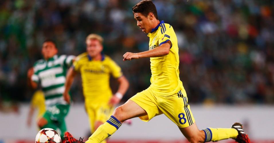 Oscar arranca para o Chelsea contra o Sporting