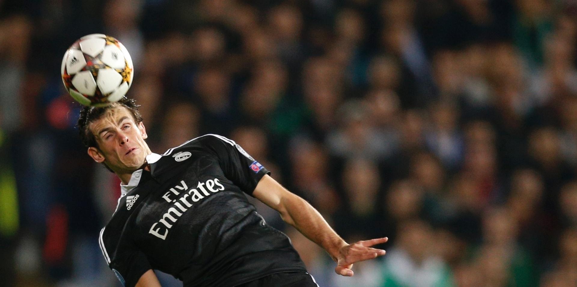 Bale dá cabeçada em jogo do Real Madrid