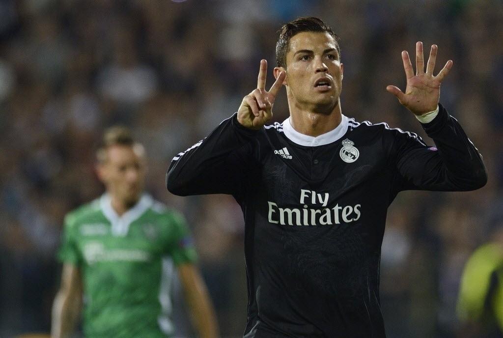 Cristiano Ronaldo comemora gol de empate do Real Madrid