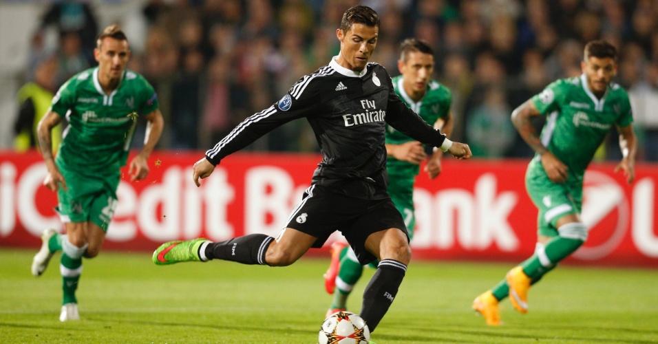 Cristiano Ronaldo desperdiça primeira cobrança de pênalti para o Real Madrid